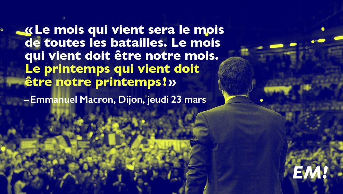Le mois qui vient sera le mois de toutes les batailles. #MacronDijon