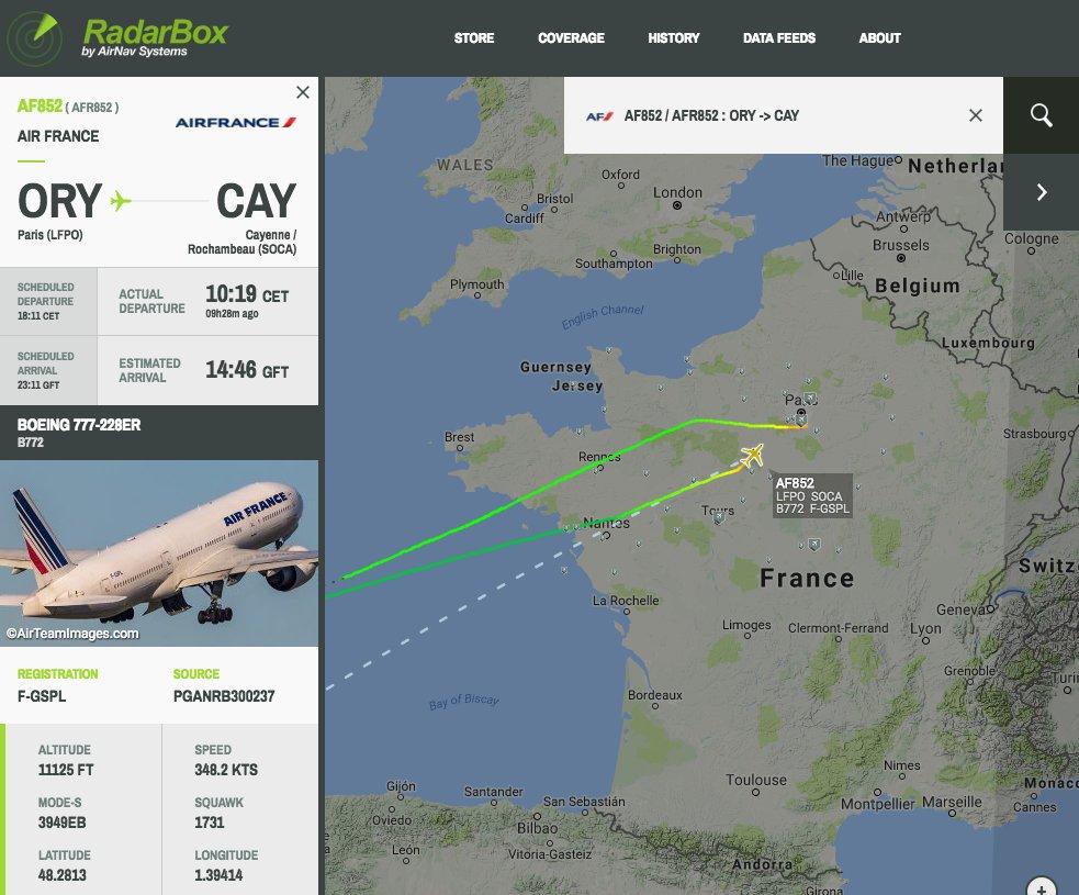 URGENT&quot;Le vol Air France #AF852 est de retour à Paris Orly après un demi-tour au dessus de l&#39;Atlantique après 8h30 en vol.&quot; #BREAKING <br>http://pic.twitter.com/yq7rk1IEIS