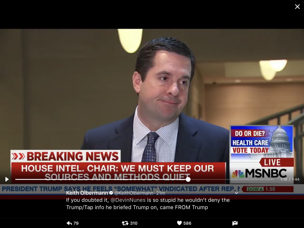 Just a judgement call... @DevinNunes, on #TeamTrump exec comm, put #TrumpTransition ahead of classified investigation!   @KeithOlbermann<br>http://pic.twitter.com/i5cMZQsFEj