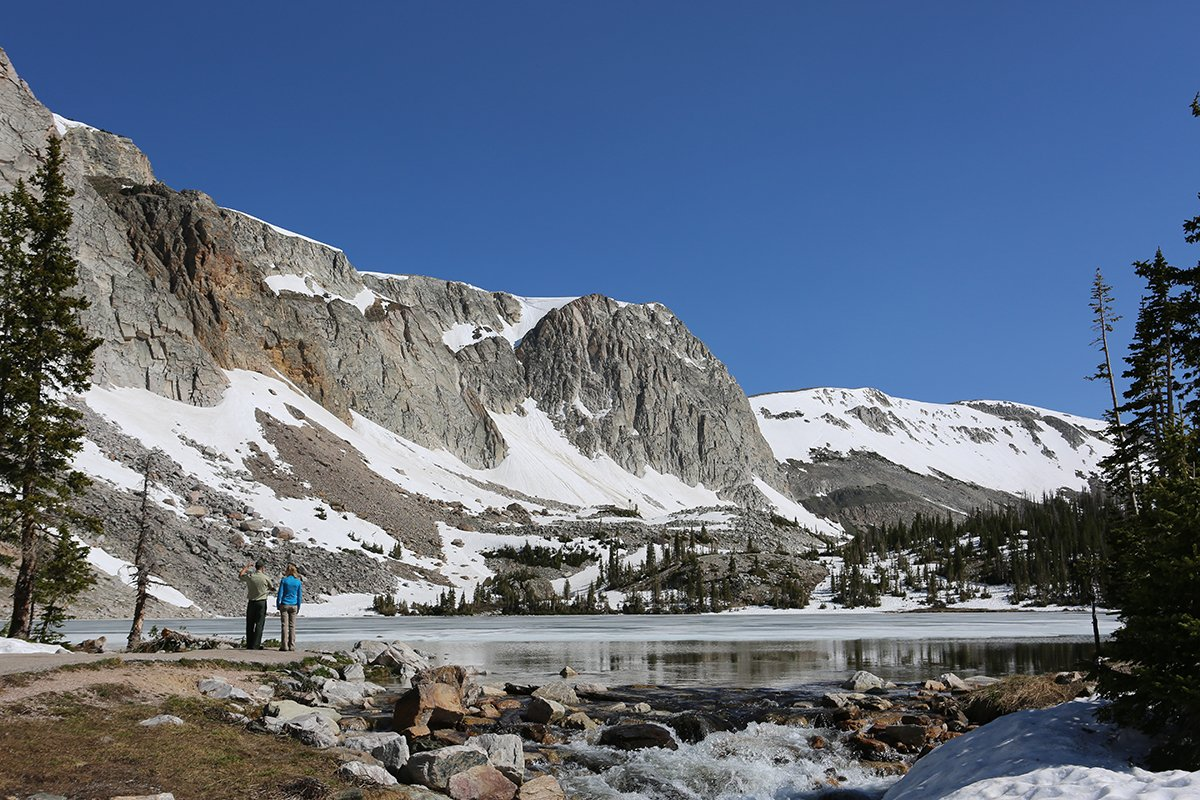 A5: So many, but Wyoming is pretty epic. Photo from Snowy Range @FS_MB...