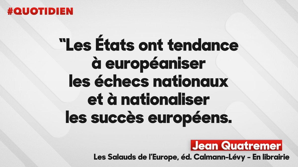 L&#39;Europe est-elle responsable de tous nos maux ? Pour Jean Quatremer, c&#39;est une façon pour les États de se déresponsabiliser. #Quotidien <br>http://pic.twitter.com/iD6OHGUycE