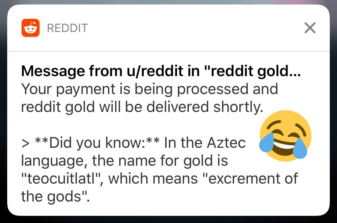 According to @reddit I am a goddess that shits out gold 💩 #goldenshowers ?
