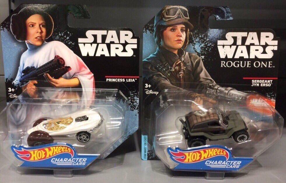 #StarWarsBargains ALERT  #PrincessLeia #SergeantJynErso @Hot_Wheels Cars @HomeBargains only £1.99  Found by @UKToyCollector  #TheLastJedi<br>http://pic.twitter.com/zq7w4rImCx