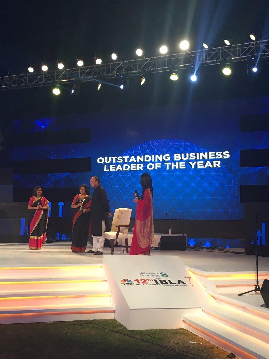 #CNBCTV18IBLA   @TheOfficialSBI Chairman, Arundhati Bhattacharya wins...