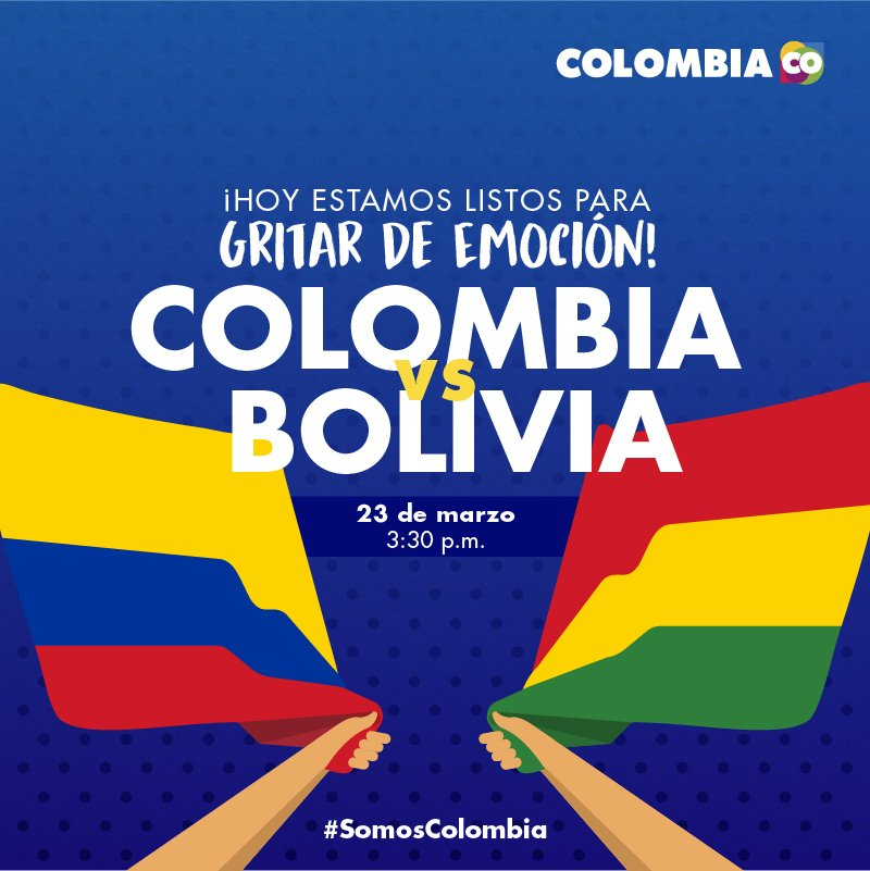 ¡Hoy apoyamos la tricolor!  #conlatricolorpuesta #Colombia #somoscolom...