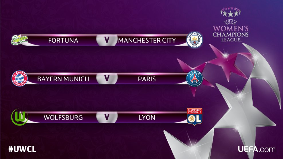 🚨 #UWCL is back tonight! 🚨  Today's three quarter-finals... 😍😍😍    ℹ️U...