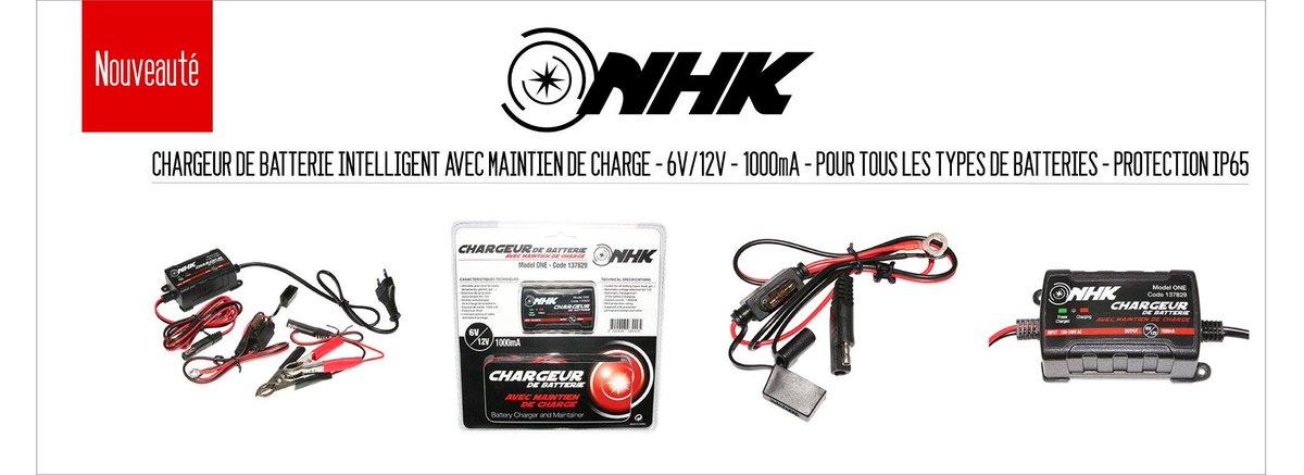 Le nouveau #chargeur de #batterie intelligent avec maintient de charge #NHK chez #P2R &gt;&gt;  http:// urlz.fr/50Lf  &nbsp;  <br>http://pic.twitter.com/2btgY5UYN4