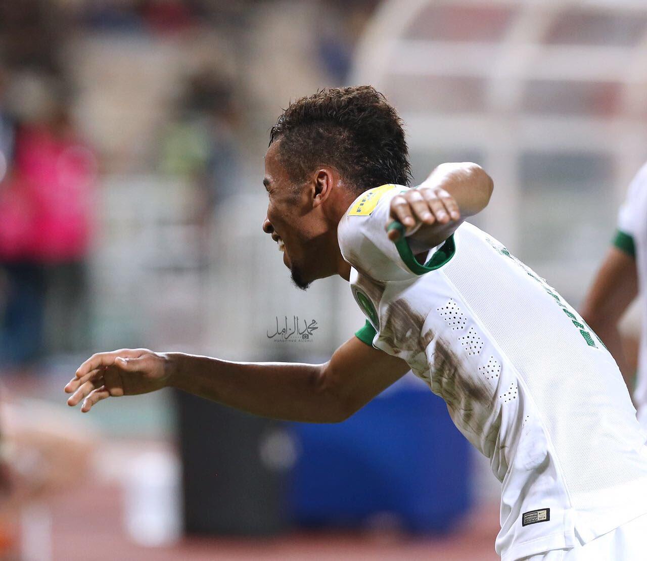 احتفال لاعبي السعودية بعد الفوز على تايلاند