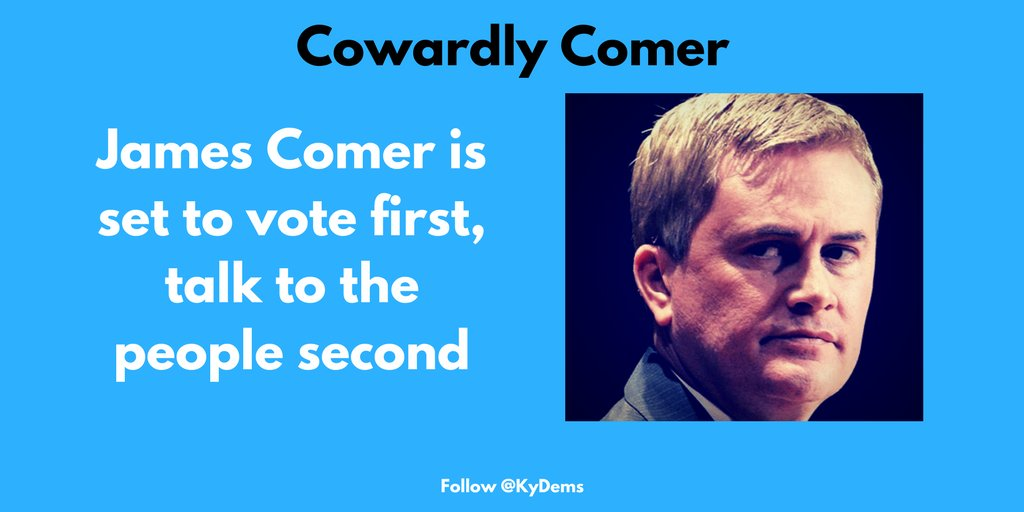 READ: Comer is set to vote first and talk to people second https://t.c...