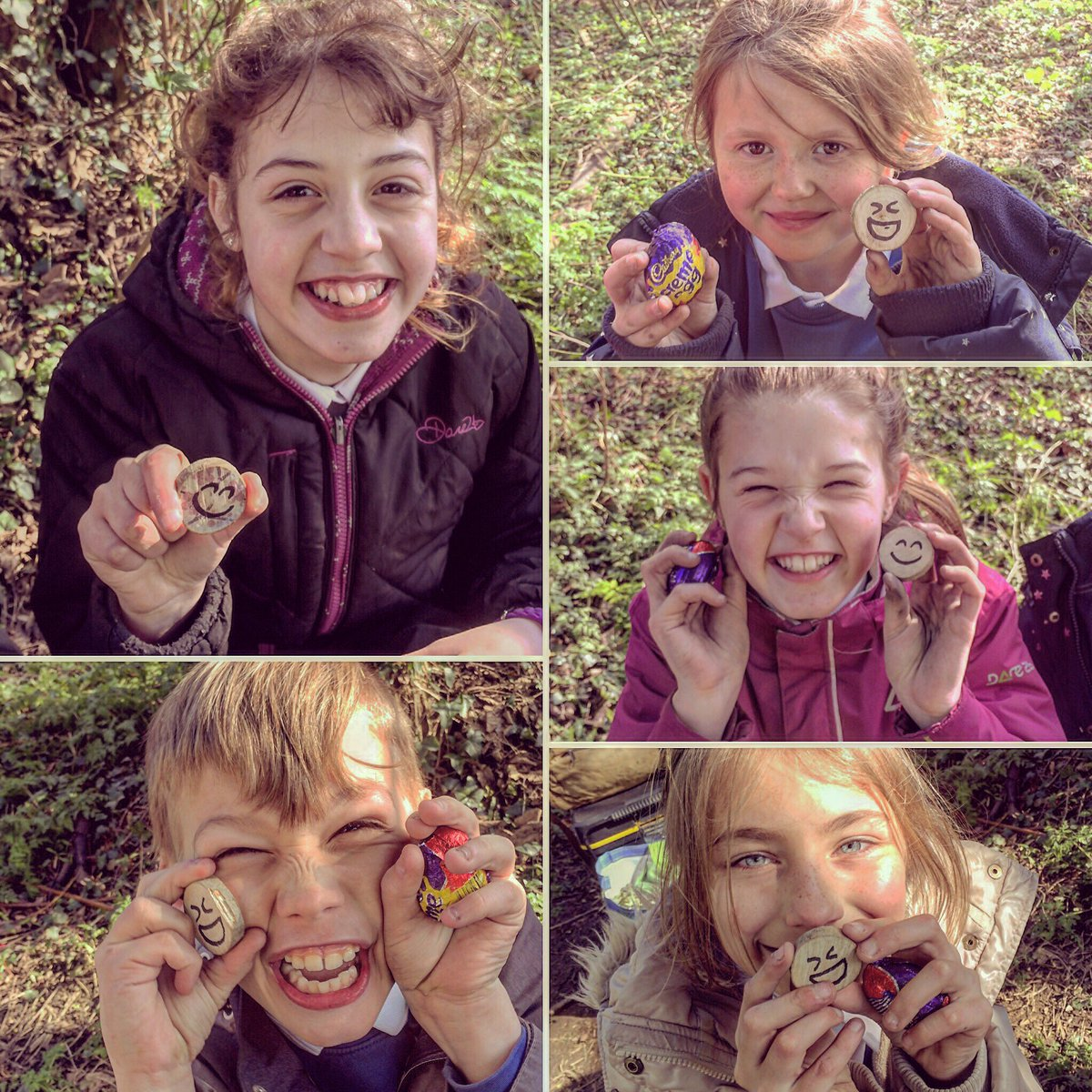 Last session before Easter, had to be an egg hunt! Lots of smiley faces @ForestSchooled #forestschools <br>http://pic.twitter.com/eNUDofpncc