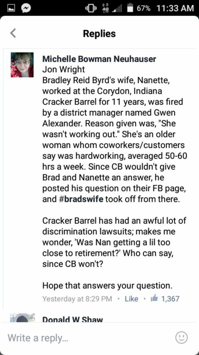 THIS JUST IN: on the #notmycountrystore #justiceforbradswife scandal involving @CrackerBarrel https://t.co/qR8l4qmpcO
