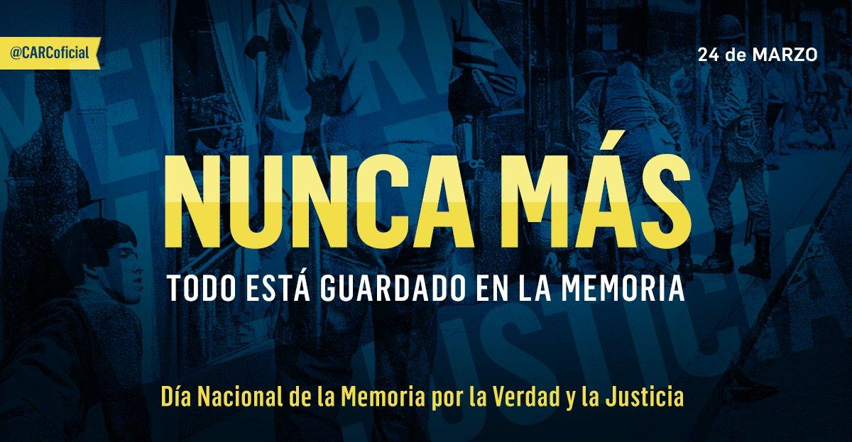 A 41 años del Golpe Cívico Militar decimos #NuncaMas https://t.co/CCKt...