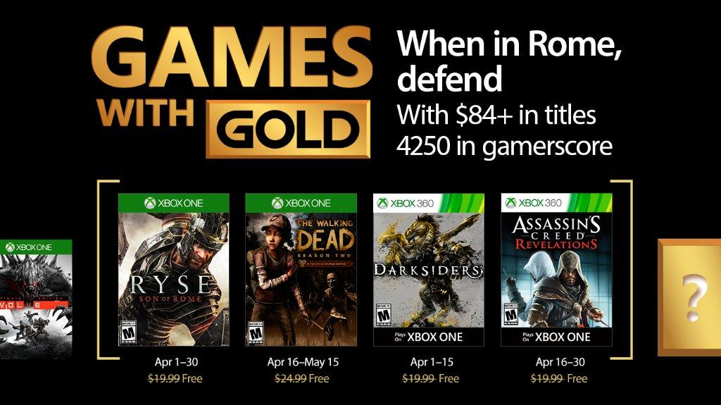Xbox Live Games with Gold April 2017