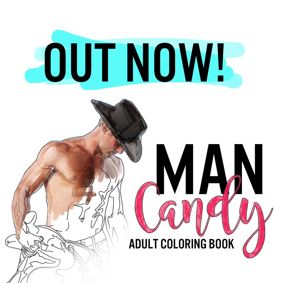 What's your MAN CANDY? #adultcoloringbook #adultcoloring #coloring #ho...