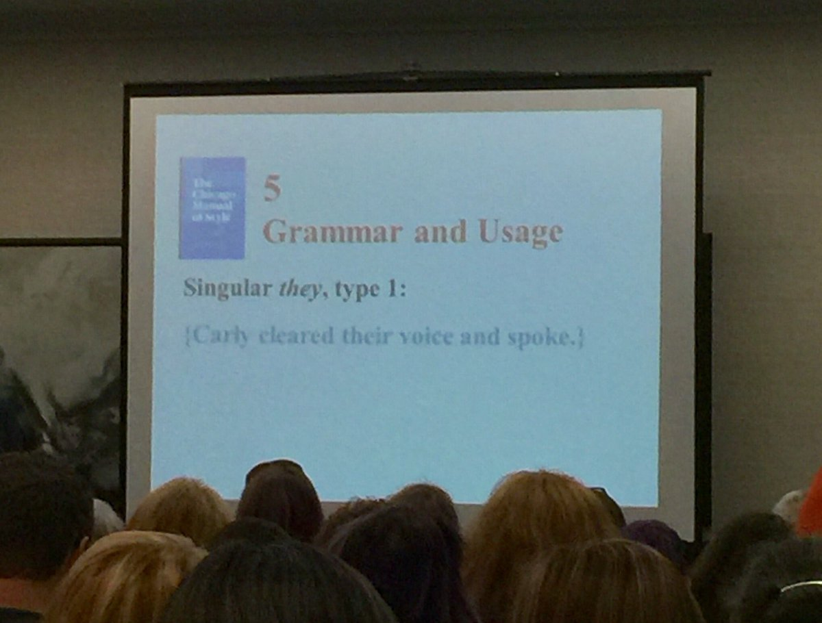 And here are the slides with more details on singular 'they' usage fro...