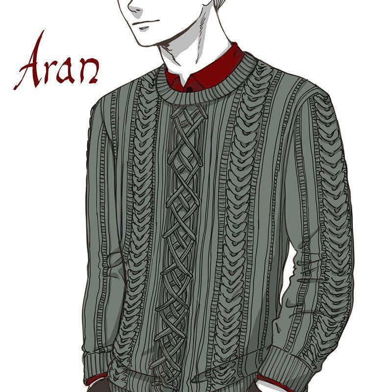 Aran Aweater #sweater #fashionillustration #illustration  http:// ift.tt/2nbxL2w  &nbsp;  <br>http://pic.twitter.com/BBtTpZ2Qlj