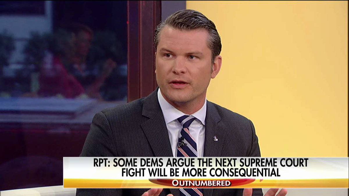 .@PeteHegseth: '[@TheDemocrats] are so rabid, they have to oppose ever...