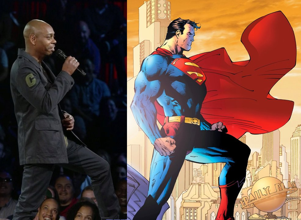 Dave Chappelle v Superman #netflix #standup #powerpose @SupermanTweets #comedy<br>http://pic.twitter.com/UoSPyolSrk