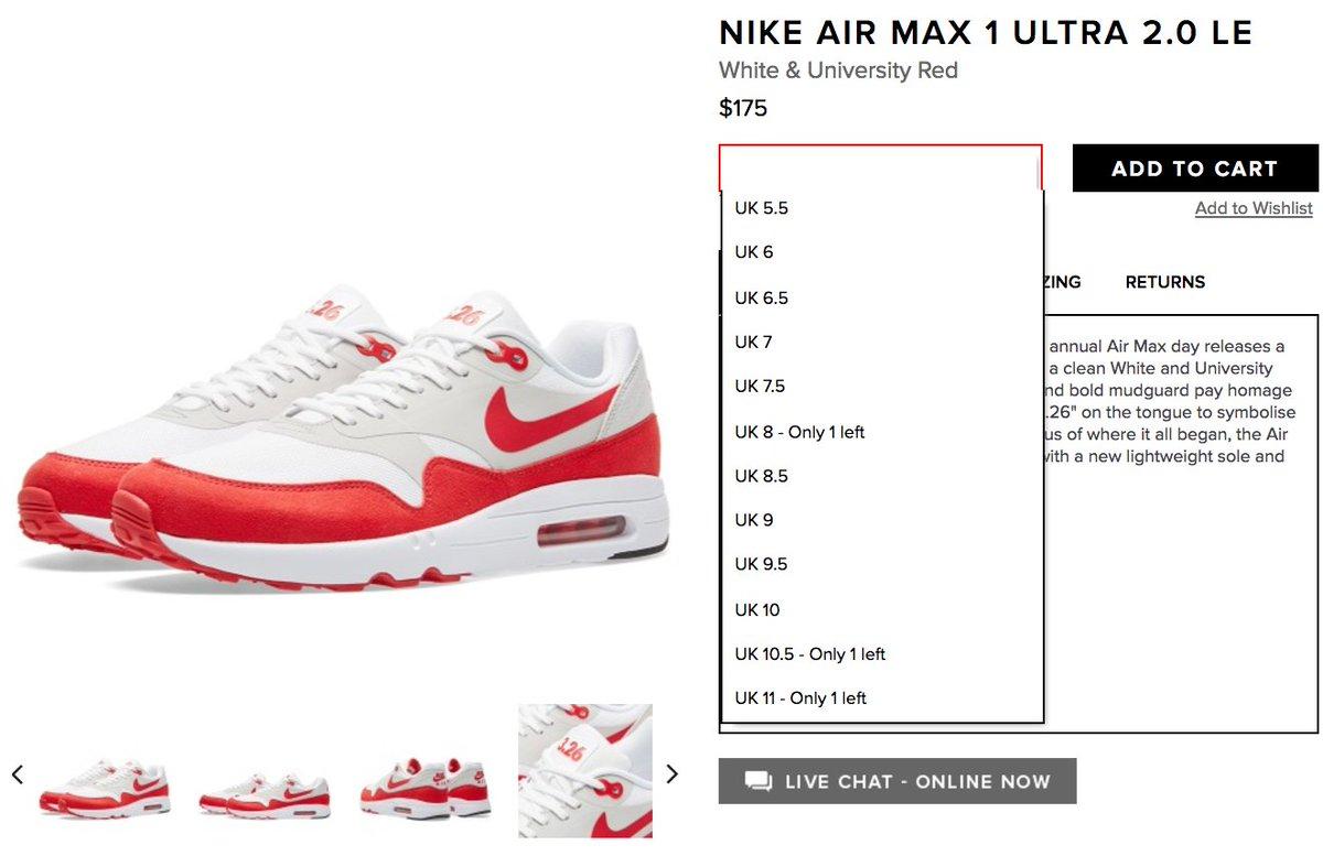 BUY Nike WMNS Air Max 1 Ultra 2.0 Air Max Day | Kixify