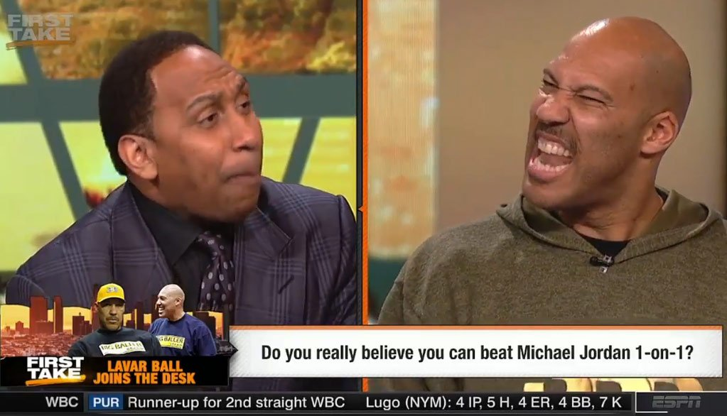 16 Minutes of Stephen A. Smith & LaVar Ball Going At It On First T...