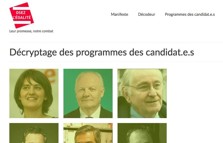 Découvrez le décryptage des programmes des 11 candidat.e.s à la présidentielle sur notre site https://t.co/buIBlTUh7Y #egalite2017 https://t.co/0p6AxLlAwr