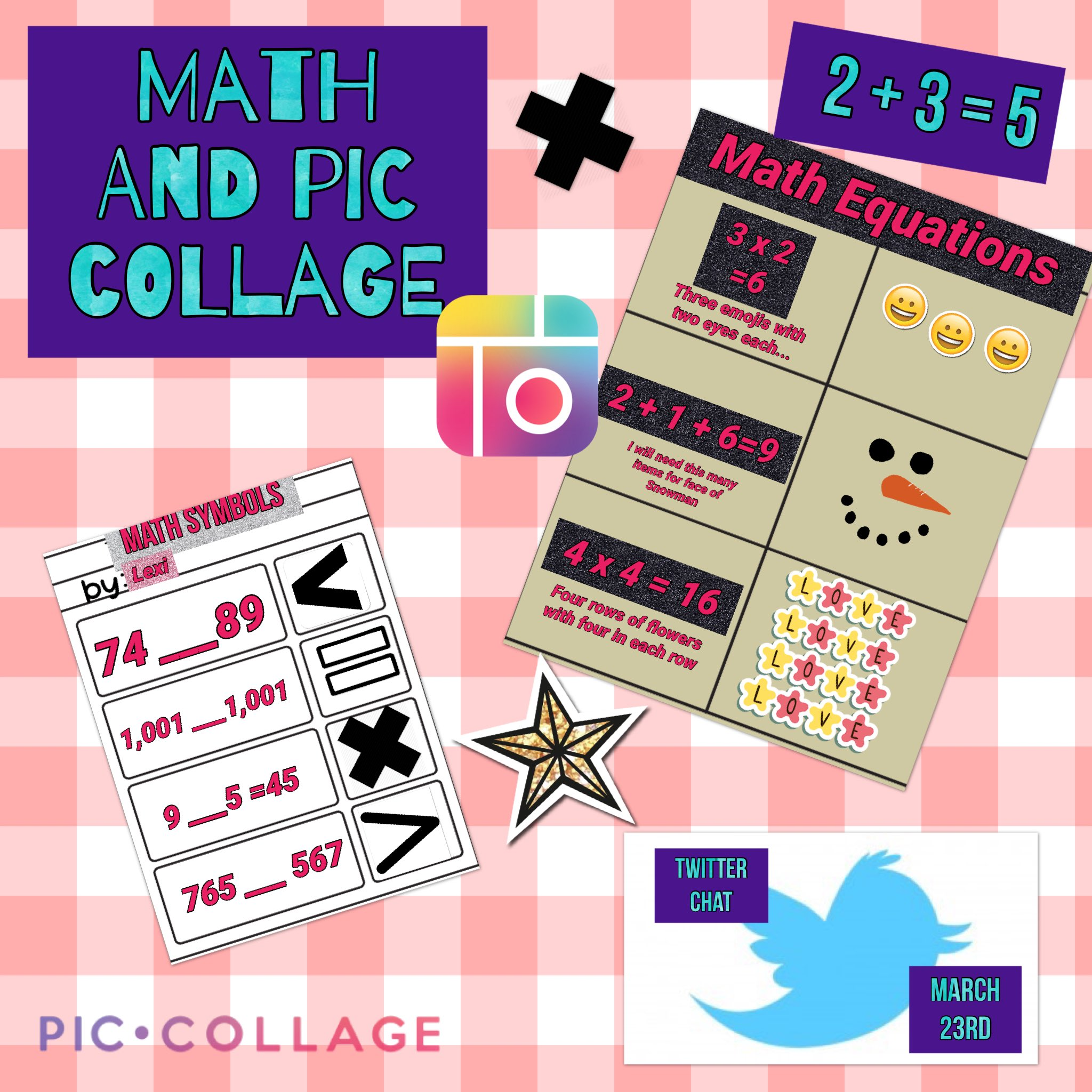 Twitter chat tonight 6CST about using @PicCollage in your math classes! #PicCollagechat #piccollageedu #edtech https://t.co/yiNlOkZCsy