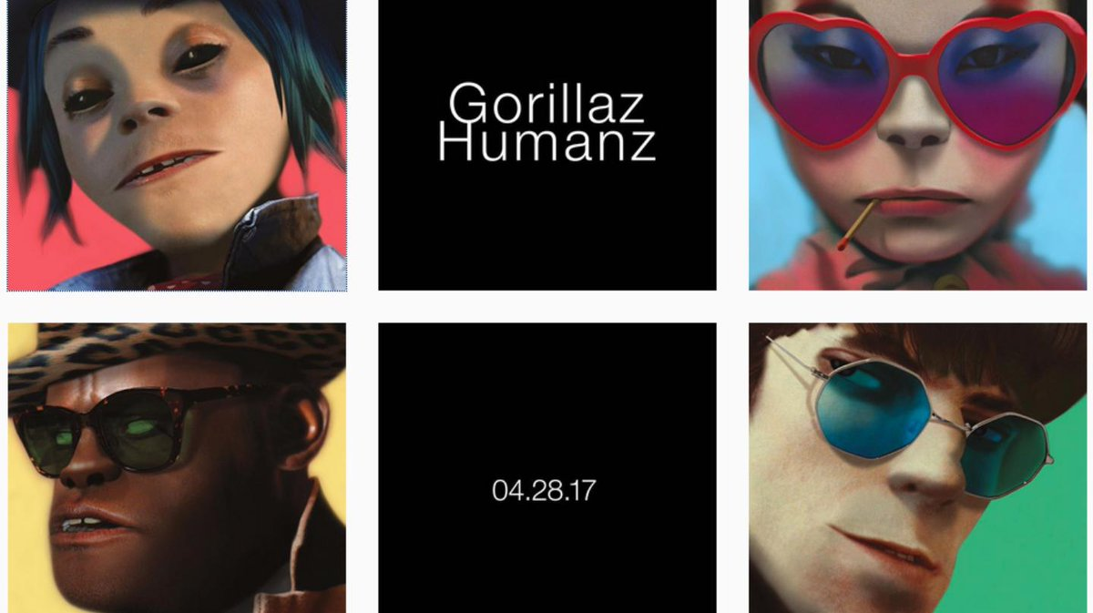 .@gorillaz have finally, officially announced their new album, 'Humanz...