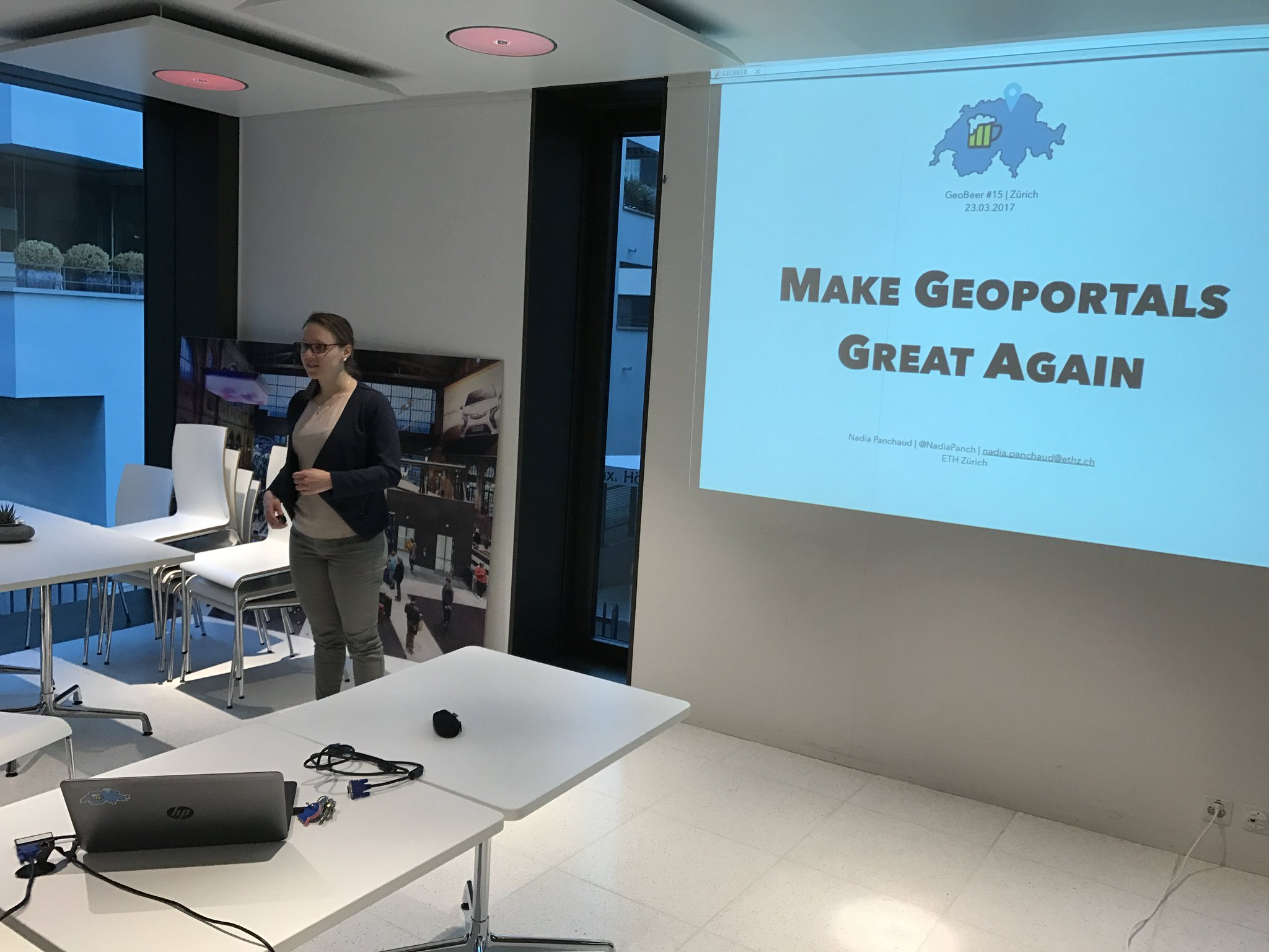 «Make Geoportals great again!» by @NadiaPanch #geobeerch https://t.co/M8ttoWAOCu