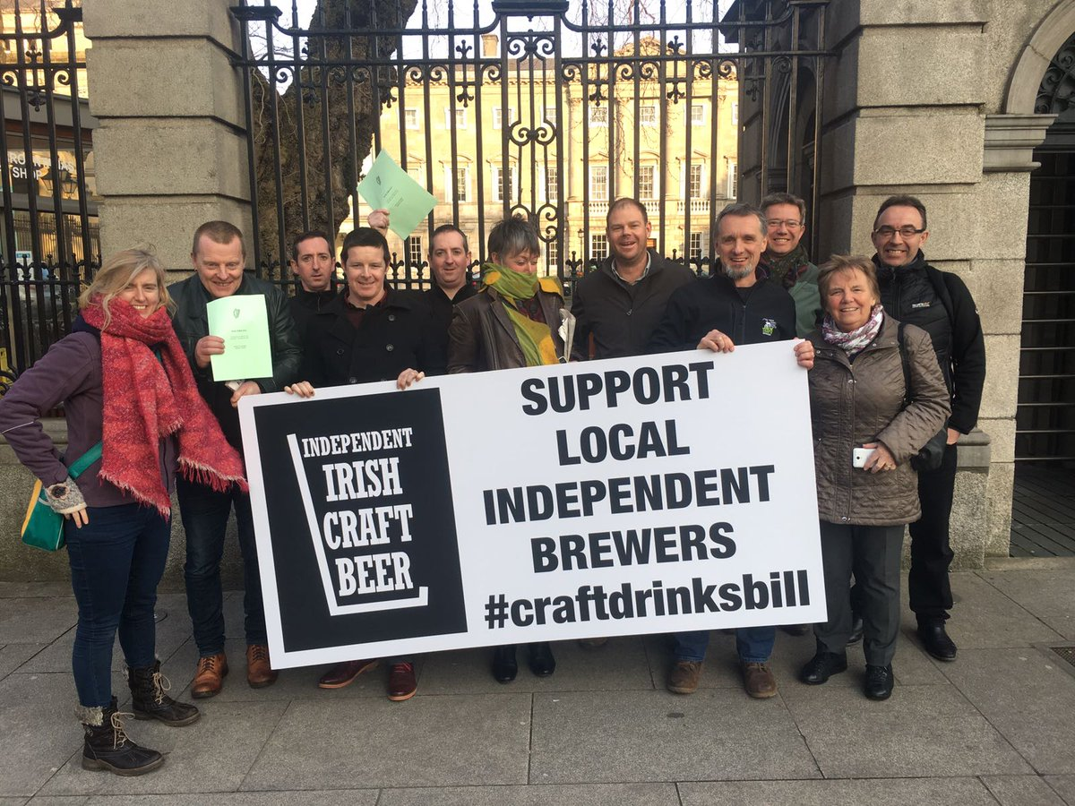 Very positive day for Irish craft beer. Unanimous support for #CraftDrinksBill https://t.co/WZuKoWAI5g