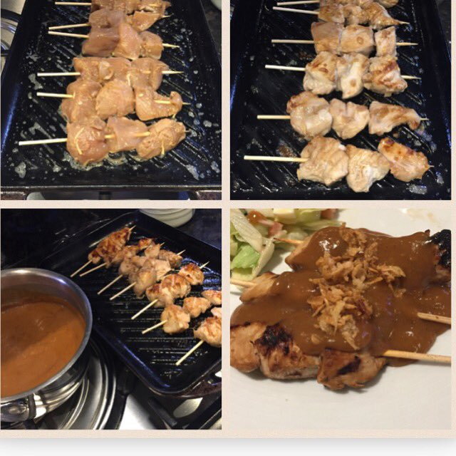 Homemade chicken saté for dinner tonight ... kids happy! # https://t.co/WTasquh9bm