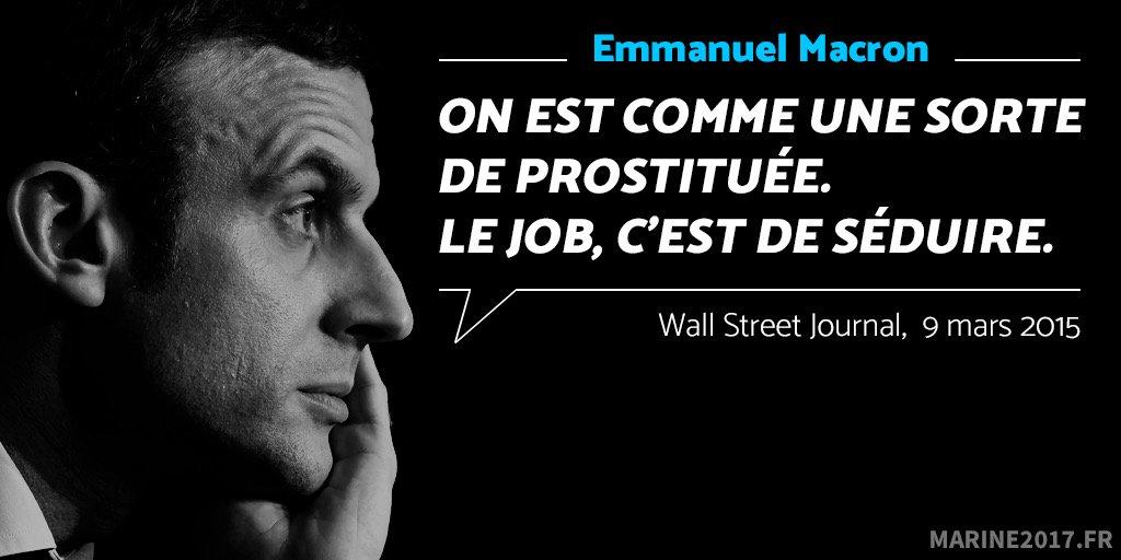 .@EmmanuelMacron le candidat sans convictions qui pend aux ficelles du Système !#LeVraiMacron