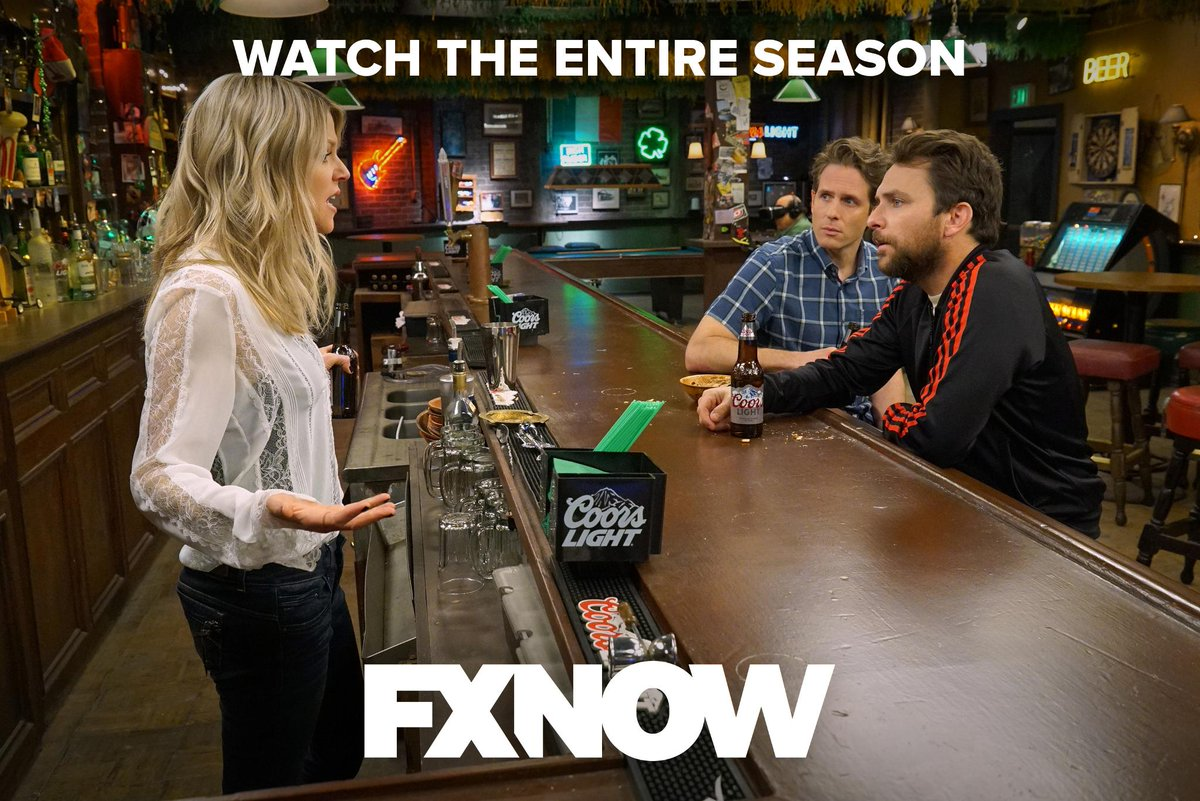 Miss hanging with The Gang? Join their antics and watch the entire season on FXNOW. #SunnyFXX <br>http://pic.twitter.com/k3kFKl2VDL
