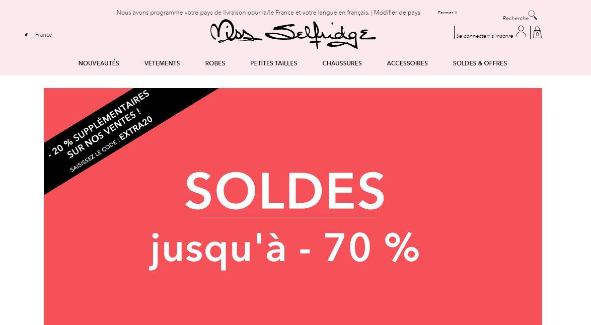 #Economisez 20% en #plus sur les #articles déjà #soldés de la boutique @MissSelfridge avec ce #bon EXTRA20        https:// goo.gl/KPQdkm  &nbsp;  <br>http://pic.twitter.com/ro4d1a3apF