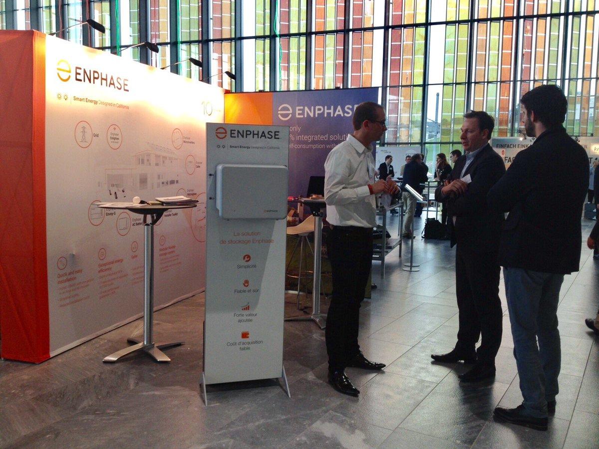 L&#39;équipe d&#39;Enphase présente la nouvelle batterie AC à l&#39;occasion de @swissolar_f - Rendez-vous sur le stand 16 #pvtagung17 #innovation <br>http://pic.twitter.com/ewOJgt2wHG