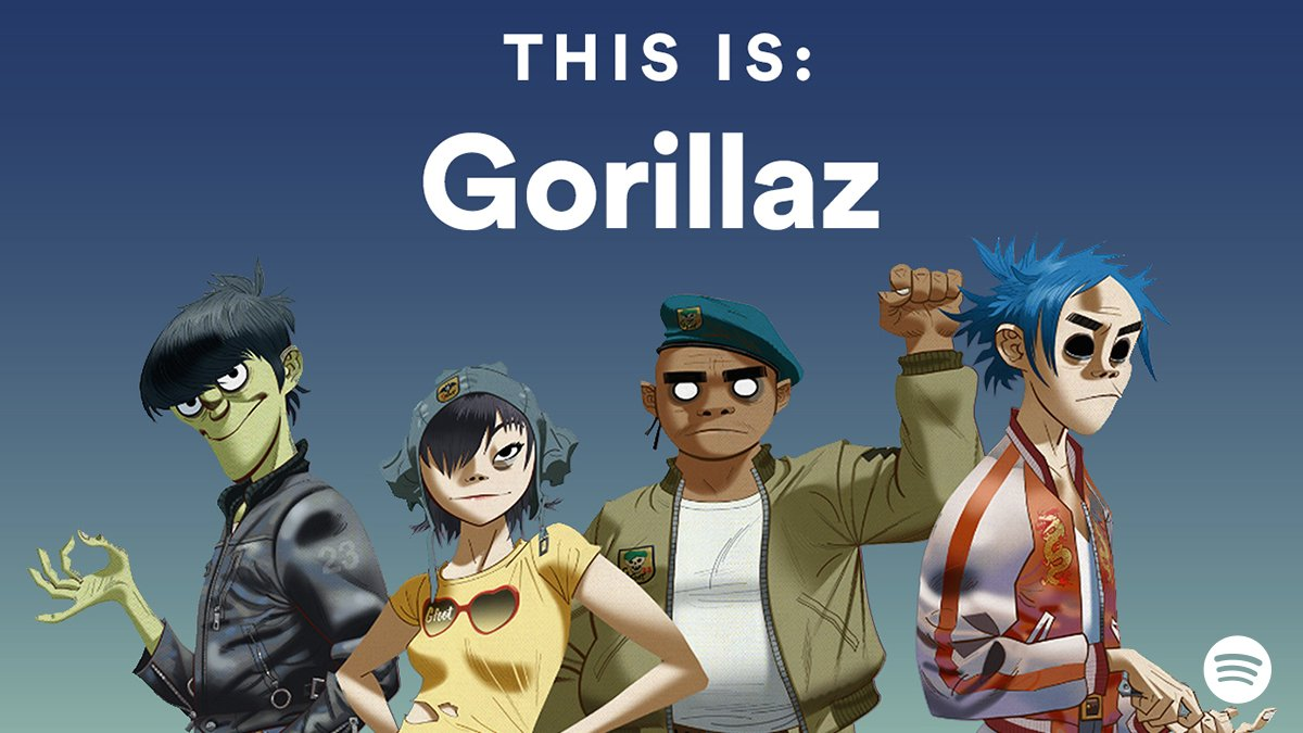 This is: @gorillaz. 4 new tracks now available. Listen out for some sp...