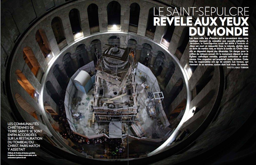 &quot;Le Saint-Sepulcre révélé aux yeux du monde&quot; mon reportage sur le tombeau de Jésus dans @Parismatch  http:// bit.ly/2mYxwHg  &nbsp;    #Jerusalem <br>http://pic.twitter.com/Kqu9pYRL5Z