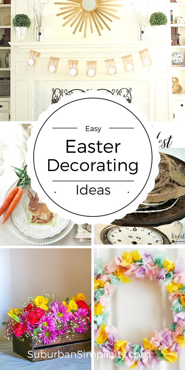 Check out these Easy DIY Easter Decorating Ideas! https://t.co/PlLHtpV...