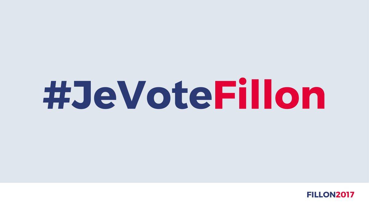 Pour soutenir @FrancoisFillon ce soir pendant #LEmissionPolitique, ➡️hashtag #JeVoteFillon