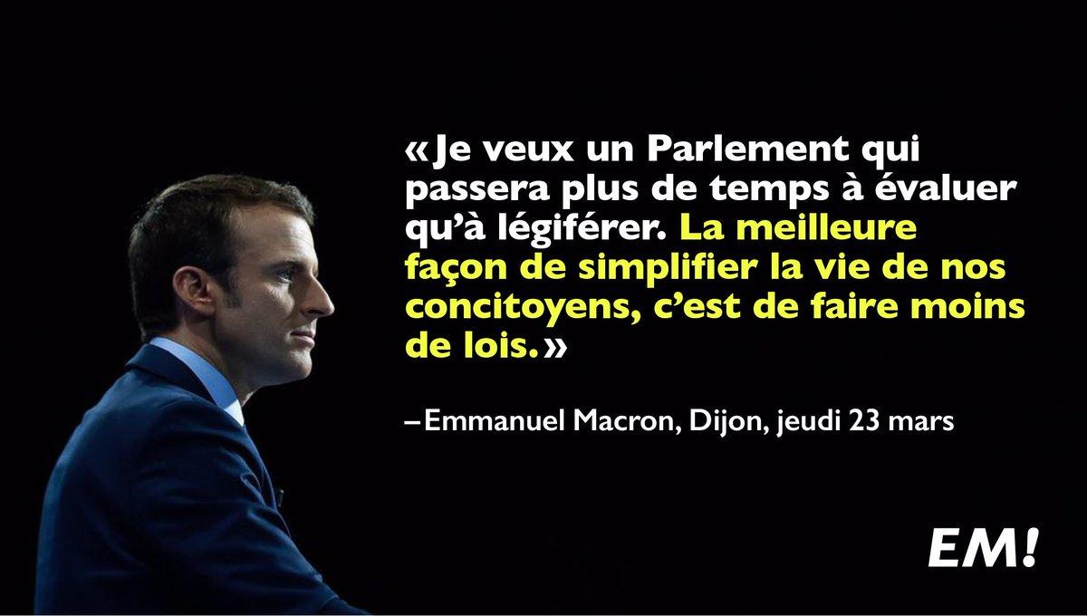 Je veux un Parlement qui passera plus de temps à évaluer qu'à légiférer. #MacronDijon