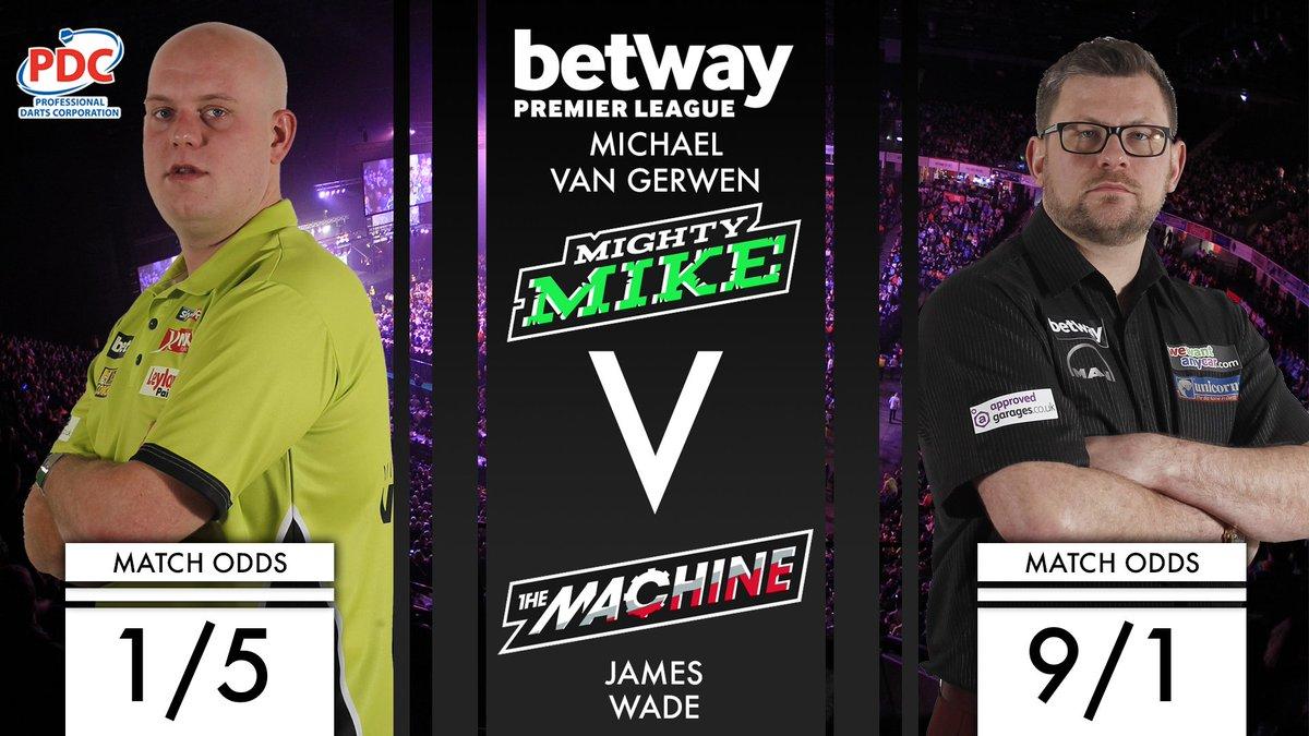 GAME ON! Michael van Gerwen takes on James Wade in the opening game of...