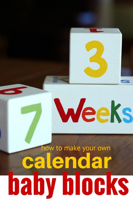 Baby Wood Block Calendar