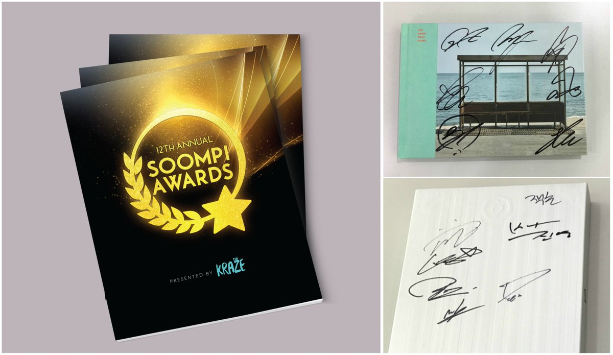 Giveaway: Celebrate @krazemagazine&#39;s #SOOMPIAWARDS Special Issue With Signed BTS And GOT7 Albums  https://www. soompi.com/2017/03/23/giv eaway-celebrate-krazes-soompi-awards-special-issue-signed-bts-got7-albums/ &nbsp; … <br>http://pic.twitter.com/7c2esp5Xqc