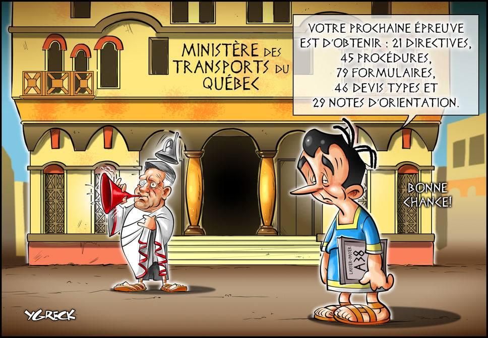 Cette caricature illustre bien la gestion chaotique et inefficace au #MTQ sous les libéraux! #polqc #assnat #CAQ #PLQ<br>http://pic.twitter.com/2cCn2p0Was