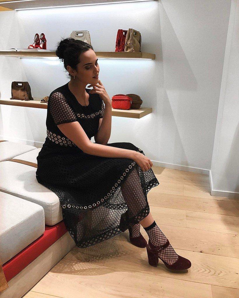 Tonight at @majeofficiel new opening in Milan  wearing my fav dress ever..  #Maje #cath…  http:// ift.tt/2mVfm8E  &nbsp;  <br>http://pic.twitter.com/HXJ2kP9HNv