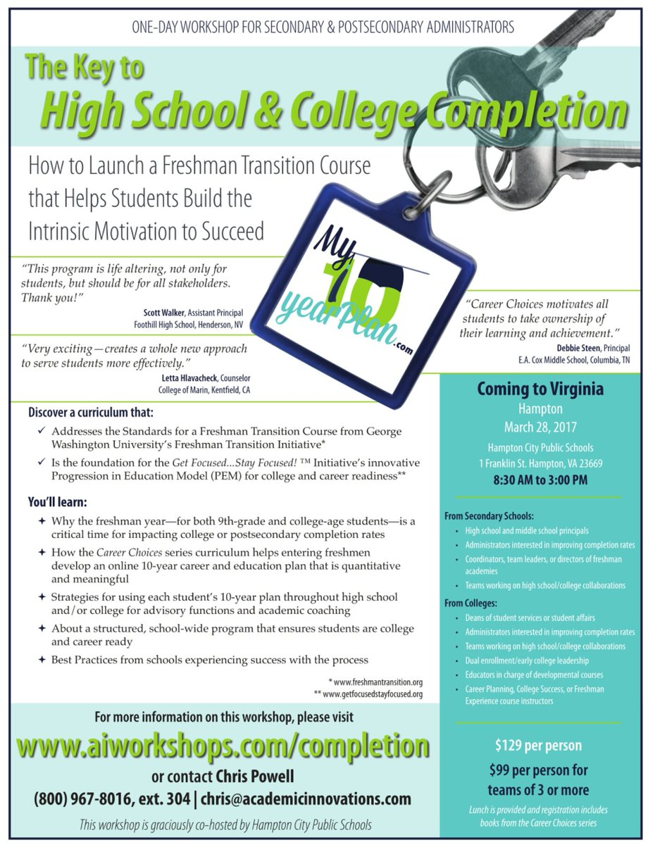 academic innovations academicinn twitter join academicinn hamptoncschools on 3 28 to increase college career and life readiness aiworkshops com ktc html id 1316 pic twitter com