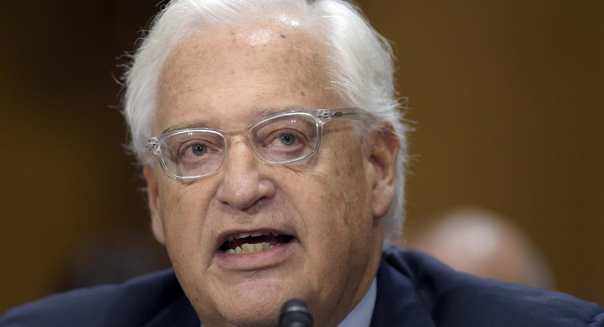 David Friedman confirmed 52-46 as U.S. ambassador to Israel https://t....