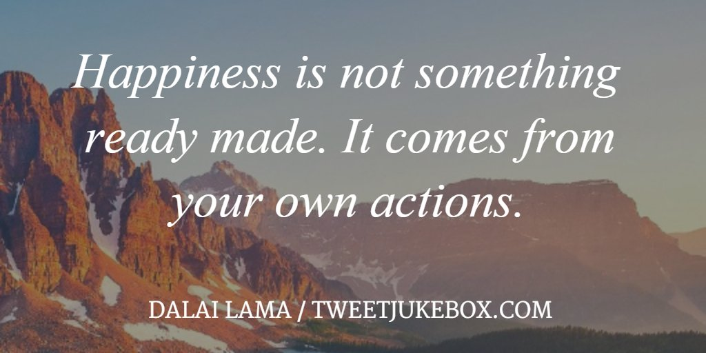 Happiness is not something ready made... Dalai Lama #quote #quotes #tw...