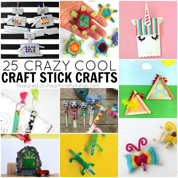 25 Crazy Cool Craft Stick Crafts for Kids