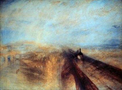 JMW #Turner, &quot;Rain, Steam, and Speed,&quot; 1844, National #Gallery, #London<br>http://pic.twitter.com/oCYJESfSMO