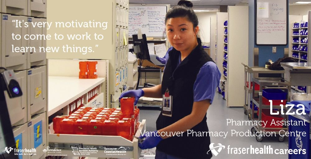 What is it like to grow you #PharmacyCareer and join the Lower Mainland Pharmacy Services team? Meet Liza - https://t.co/MzrTiSsIJf #PAM2017 https://t.co/6LJzea8RTN